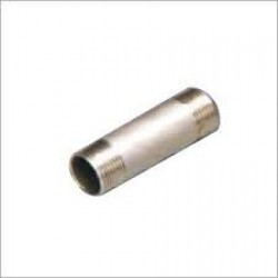 "Stainless Steel 316 Grade 1"" x 1"" BSP Male Barrel Nipple 100mm"