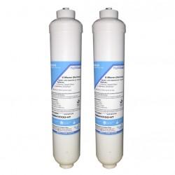 2 x Beko 4386410100 Inline External Fridge Water Filters