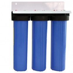 "Triple Whole House Water Filter System 20"" Big Blue Standard CTO"