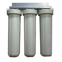 "Triple Whole House Water Filter System 20"" Big White Premium CTO"