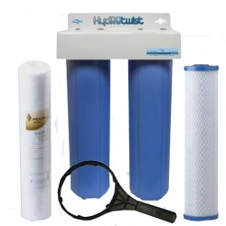 "Twin Whole House Water Filter System 20"" Big Blue Standard CBC"