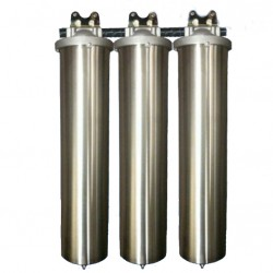 Triple Whole House Water Filter System Big Stainless Steel GAC