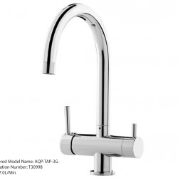 Aquaport Three 3 Way Kitchen Mixer Tap Round Spout AQP-TAP-3G1