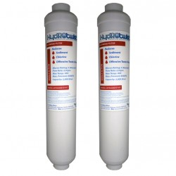 2 x HydROtwist GE GXRTDR External Fridge Water Filter Compatible