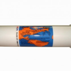 """Omnipure K5567 SS GAC KDF Water Filter 1/4"""" Quick Connect Elbow"""