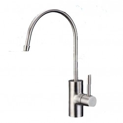 Calais High Loop Round Stainless Steel Water Filter Faucet Tap