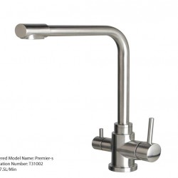 3 Three Way Mixer Tap Hot Cold Pure 304 Stainless Steel Short