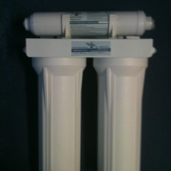 Triple Under Sink GAC Carbon  Water Filter System 10""