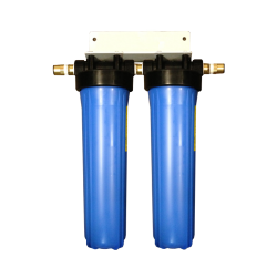 "Twin Whole House Water Filter System 20"" Big Blue Marine 22mm"