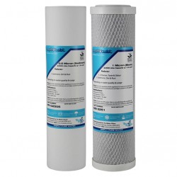 Waterco Gemini Compatible Twin Replacement Water Filter Set 10""
