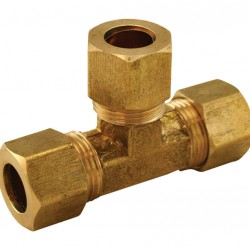 """3/4"""" x 3/4"""" x 3/4"""" BSP Tee Piece Brass Compression Kinco Olives"""