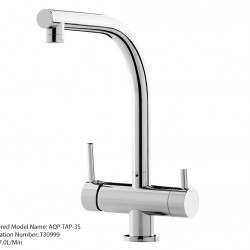 Aquaport Three 3 Way Kitchen Mixer Tap Square Spout AQP-TAP-3S1