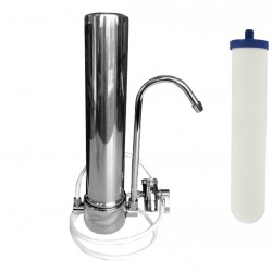 Stainless Steel Countertop Fluoride Water Filter System 10""
