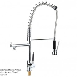 Residential Cucina Euro Pull Out Spray Kitchen Mixer Tap Black