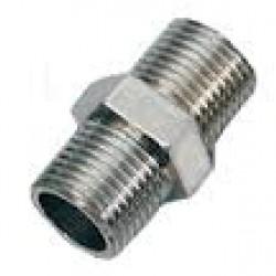 "Stainless Steel 316 Grade 1/2"" x 1/2"" BSP Male Hex Joiner Nipple"
