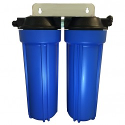 Twin Under Sink Housing Upgrade Kit Only Blue 10""