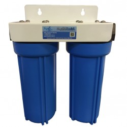 "Twin Under Sink Housing Upgrade Kit Only Blue 10"" High Flow"