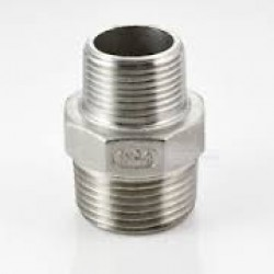 """Stainless Steel 316 Grade 1"""" x 1 1/2"""" BSP Male Hex Reducer"""